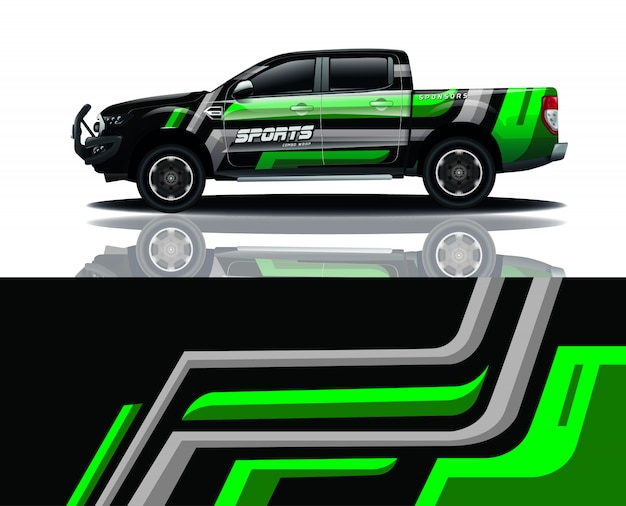 Pickup truck decal wrap