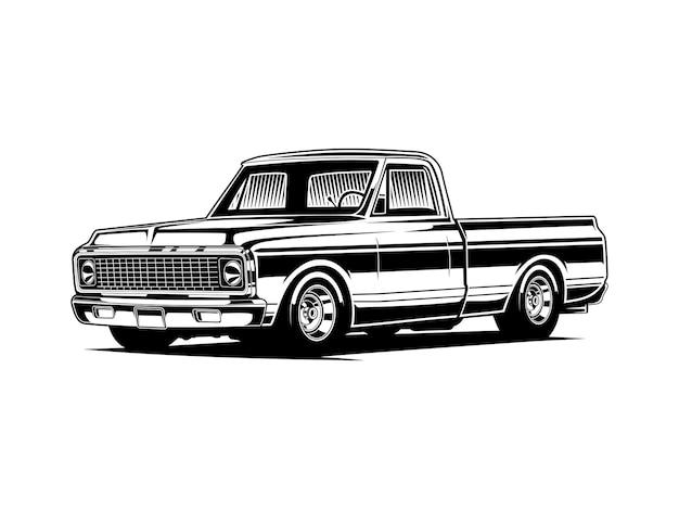 Pickup truck silhouette