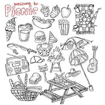 Picnic, doodle