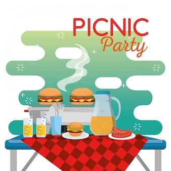 Picnic party celebration scene