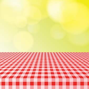 Picnic table cloth with bokeh light