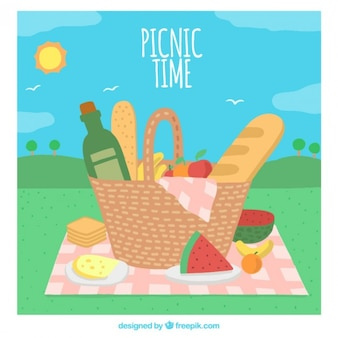 Picnic time background