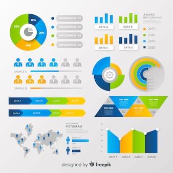 Pictogram infographic elements