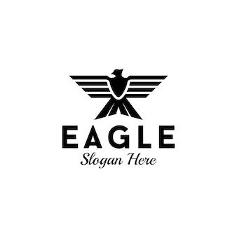 Иллюстрированный орел логотип deisgn