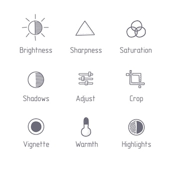 Picture editing icons