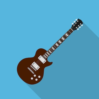 Picture of electric guitar,  style illustration