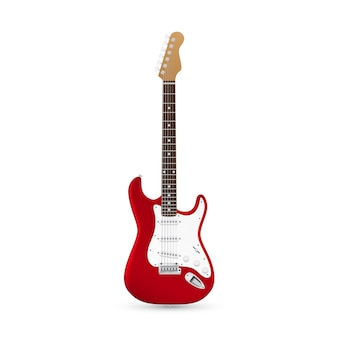 Picture of electric guitar  on white background