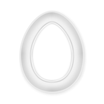 Picture frame egg shape.