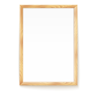 Picture frame isolated on a wall.
