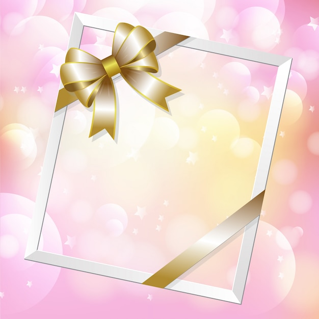 Picture frame and ribbon
