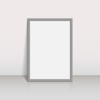 Picture frame on a white wall