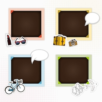Picture frames for scrapbook