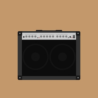 Picture of guitar combo amplifyer,  style illustration