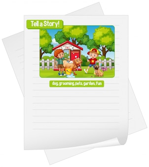 A picture narrative worksheet