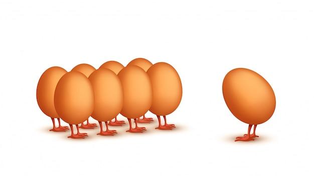Картина бизнес яйцо