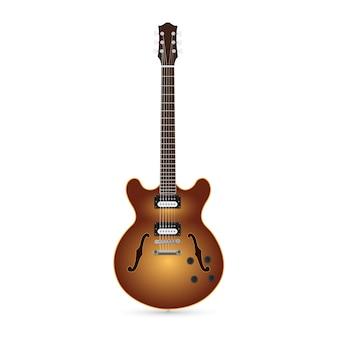 白い背景の上のエレクトリックギターの写真
