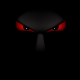 Картина призрак черный