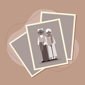 조부모 부부의 사진