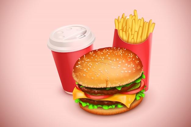 ハンバーガーの写真