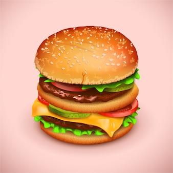 Картина гамбургер