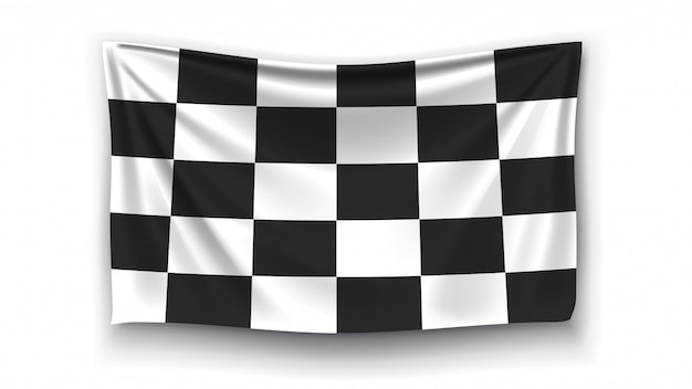 レース旗の写真