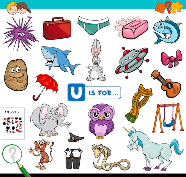 Picture starting with letter u game