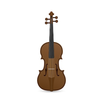Picture of violin  on white background
