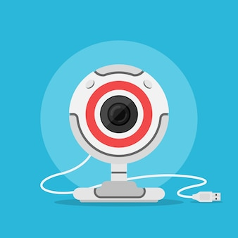 Picture of web camera,  style illustration