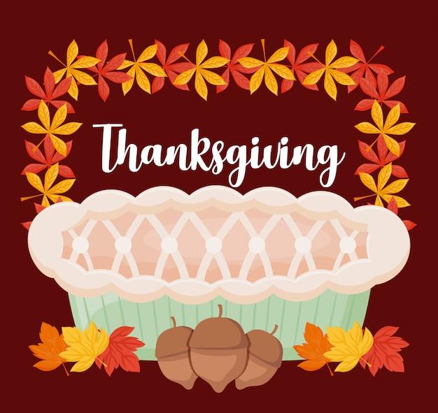 Пирог яблочный с днем благодарения
