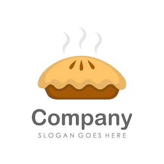 Pie cake logo and icon design template