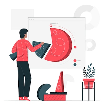 Pie chart concept illustration