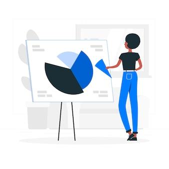 Pie chart concept illustration