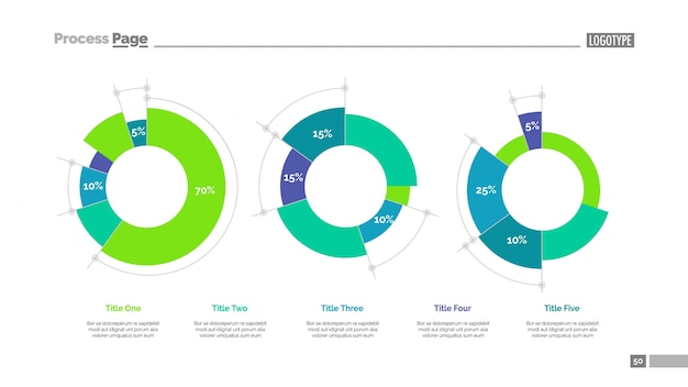 Pie charts slide template