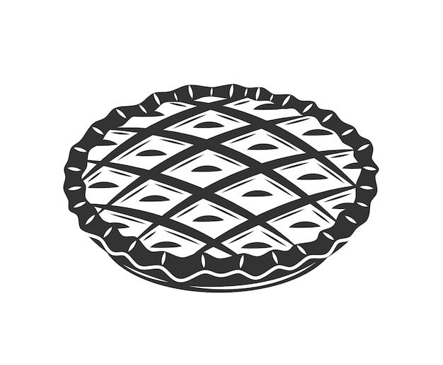 Пирог изолирован. элементы дизайна пекарни.