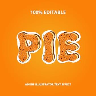 Pie text effect premium