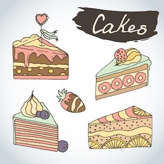 Коллекция иллюстраций штук пирога