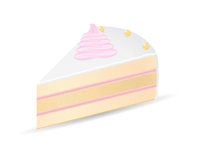 Piece of cake vector illustration