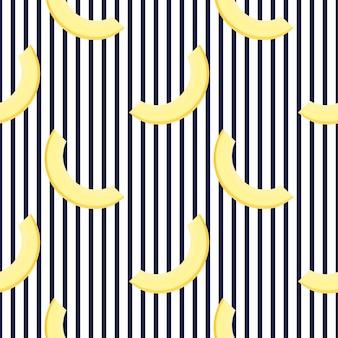 メロンのかけら。横縞の夏のシームレスパターン。デザイン面、布、テキスタイル、包装紙、壁紙に使用されます。