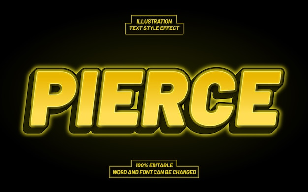Pierce text style effect