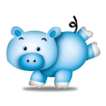 豚漫画かわいい動物野生ペットバービーキャラクター人形甘いモデル感情アート