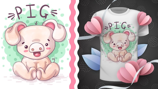 Свинья - детский мультипликационный персонаж животное
