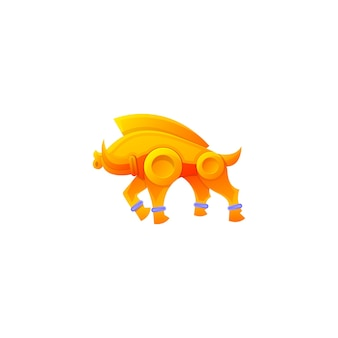 Pig colorful mascot