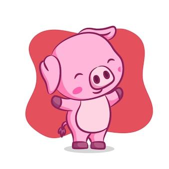 Свинья прогревается утром
