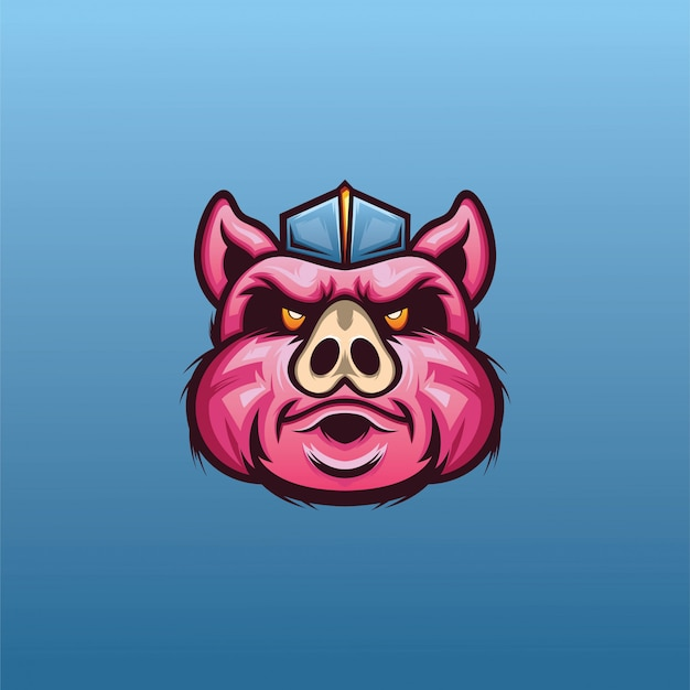 Pig head for esport logo vector