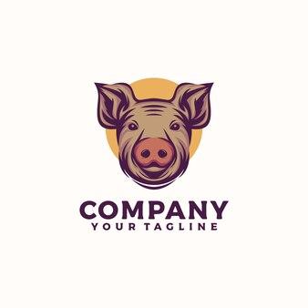 Pig head logo