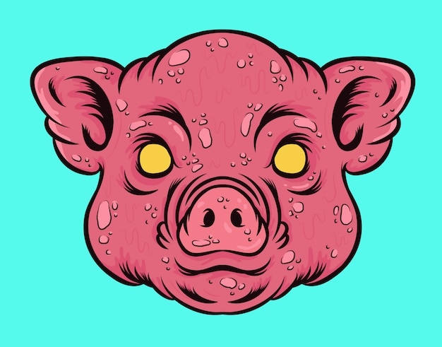 Pig head vector illustration