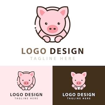 돼지 로고 디자인