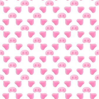 Pig s nose and ears. festive seamless pattern for the new year 2019.