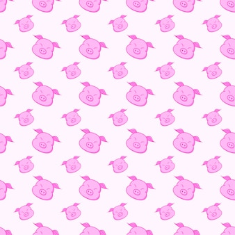 Pig seamless pattern