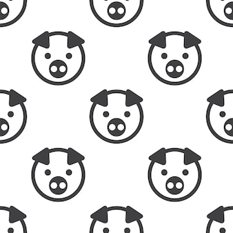 Pig, vector seamless pattern, editable can be used for web page backgrounds, pattern fills